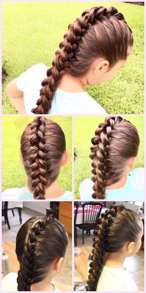 Amazing Girls Dragon Braid Hairstyle Diy Tutorial Video Hair Braid Diy Braided Hairstyles Tutorials Hair Braid Videos
