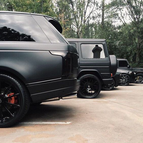 all black cars, all black everything