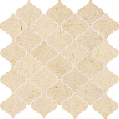 Crema Marfil Classico 3x3 Baroque Mosaic Polished M722