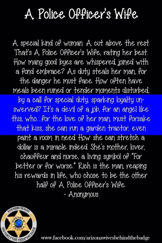 Police officers wife poem