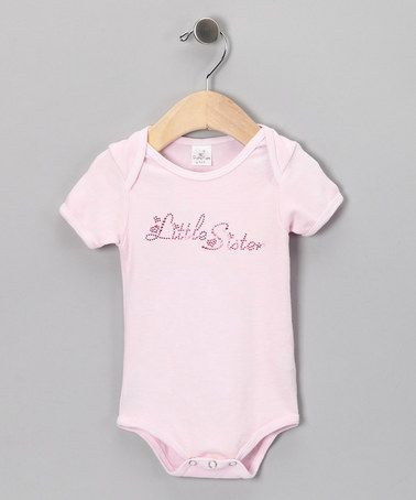 Another great find on #zulily! Pink 'Little Sister' Rhinestone Bodysuit - Infant by Truffles Ruffles #zulilyfinds