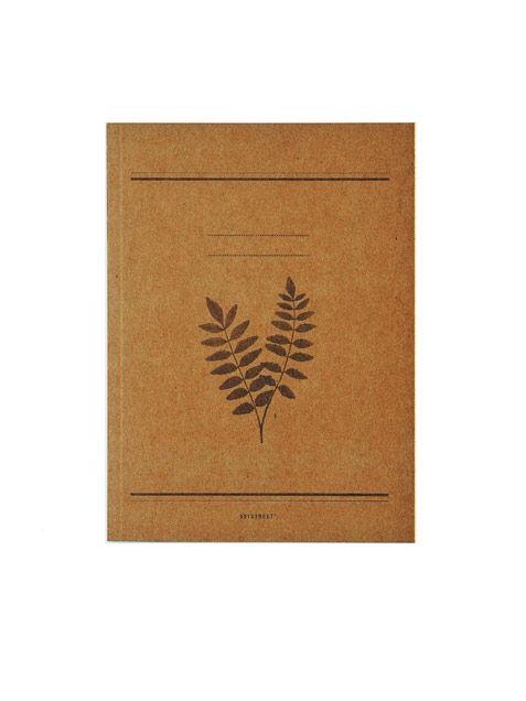 Leaf Notizbuch Brown