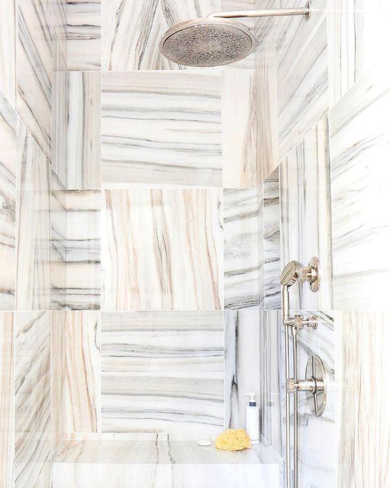 """#NowPinning: stunning marble details. Follow along → Pinterest.com/MyDomaine. | Photo by @TessaNeustadt."""