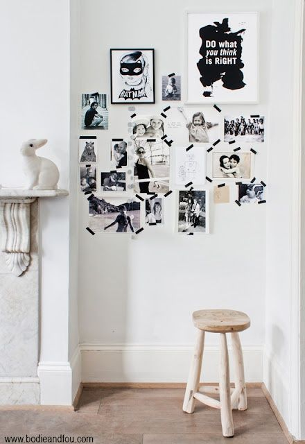 Great way to decorate without banging holes in the wall to cover the hole home pinterest - The house without walls ...