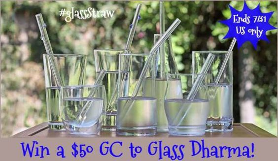I have some Glass Dharma straws and they are very cool. We wanted to share this giveaway with you as we thought you would love…