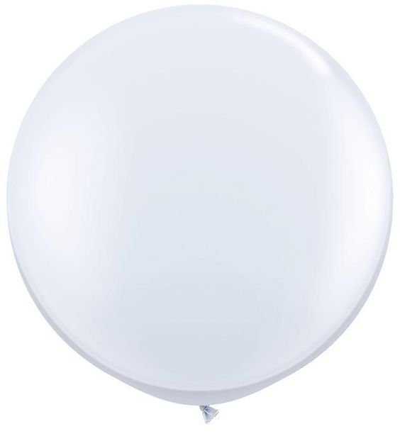 White Giant 3ft Qualatex Latex Balloons x 2 in Home, Furniture & DIY, Celebrations & Occasions, Party Supplies | eBay