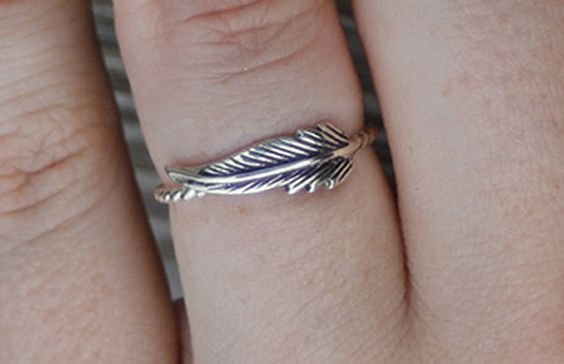 Sterling silver feather ring feather ring by CapturedIllusions