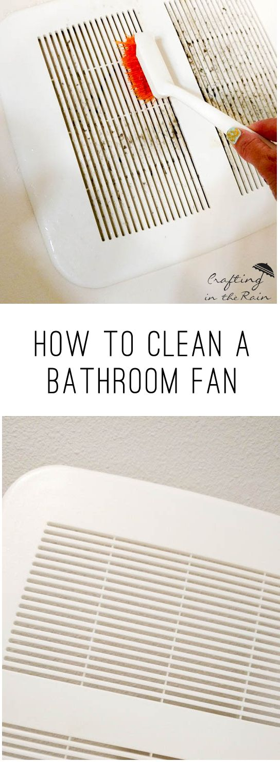 Tips for cleaning bathroom vent fans.