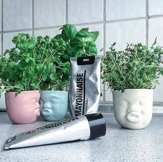 Moodcups som plantehoveder #Mood #cups from #Livink