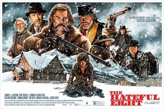 The Hateful Eight, by Jason Edminston #jasonedminston #thehatefuleightprint