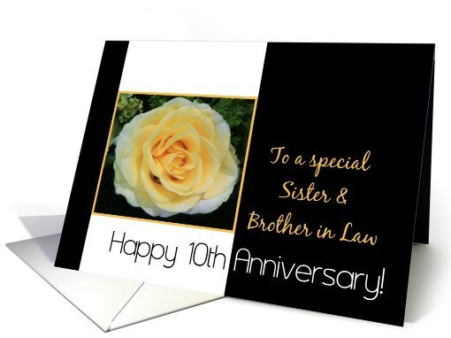 10th Wedding Anniversary Gift For Sister : 10th Wedding Anniversary card for Sister