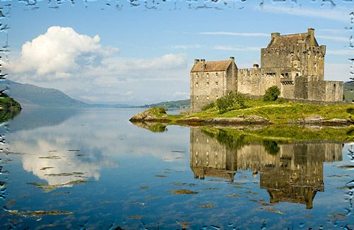 Scottish  castle, Eilean Donan,