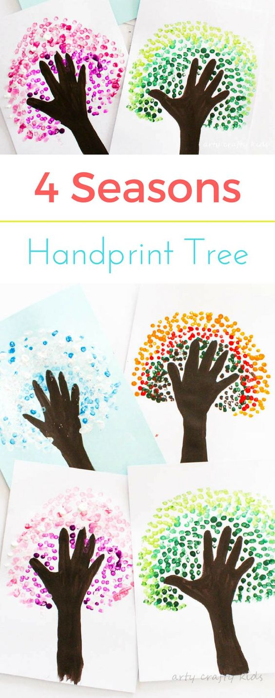 Four Seasons Handprint Tree