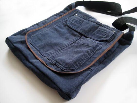 Bolsa feita de uma calça cargo