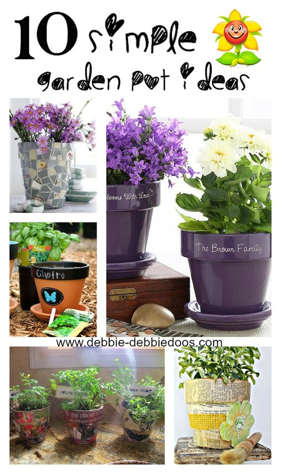 10 different ways to decorate and dress up terra cotta pots using