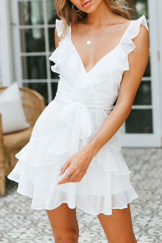 44++ Short white chiffon dress information