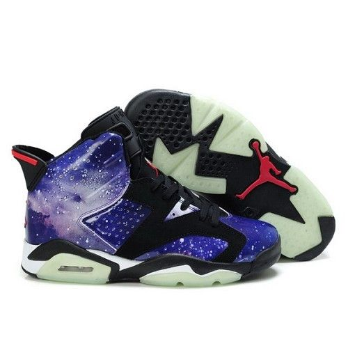 pas cher nike taquets de baseball - Air Jordan 6 Galaxy Purple Black Basketball Shoes $59.90 Low price ...