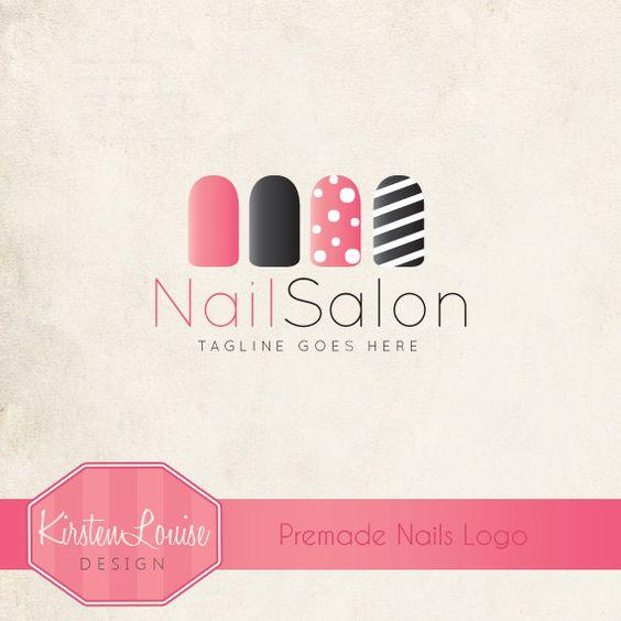 nail tech logo premade nail salon logo nail art logo nail technician