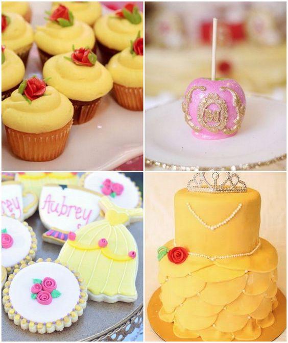 Mesa de dulces para cumpleanos de la bella y la bestia for Mesas dulces cumpleanos