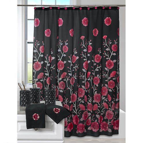 Complete 19 Piece Bath Set Bath Sets Settings Printed Shower Curtain