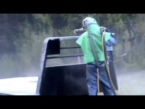 Sandblasting Truck Bed with Sterling Sand Paint Removal Coffey's Sandbla...