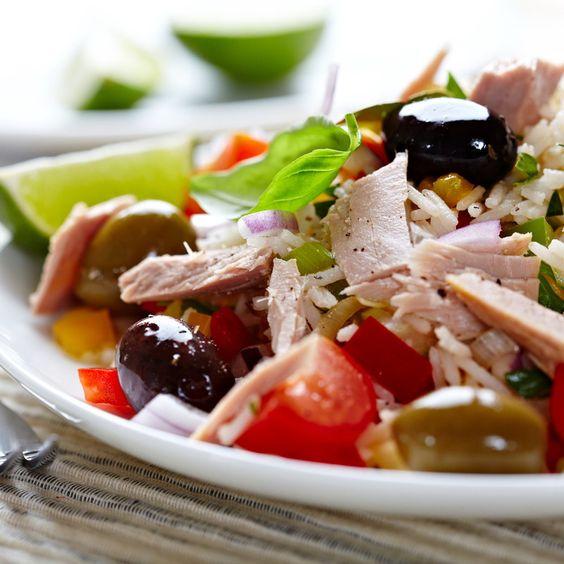 Fat Free Salad With Tuna (3 recipes)  #superfood #lunch #recipes #healthyfood #tuna