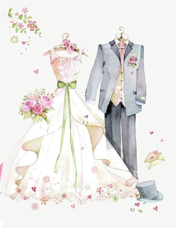 Mariage Robe De Mariee En Matiere De Peints A La Main Robe Elegance Bouquet A De La Mainrobee Hochzeit Malvorlagen Clipart Hochzeit Hochzeit Zeichnung