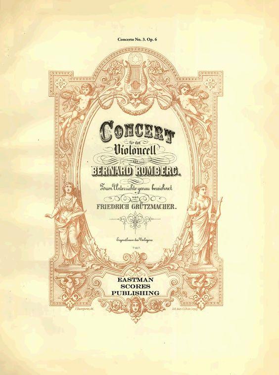 Romberg, Bernhard : Concerto No. 3, fur das Violoncello. Zum Unterricht genau bezeichnet van Friedrich Grutzmacher. Op. 6