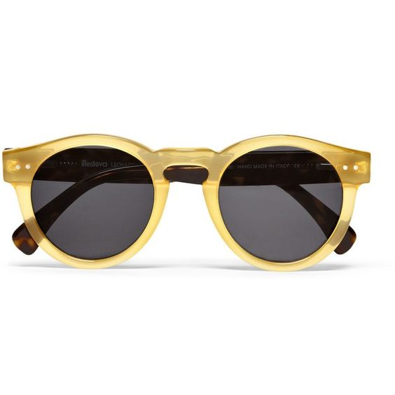 Fancy - Leonard Round-Frame Acetate Sunglassesby Illesteva