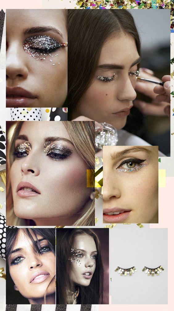 Inspiração - Maquiagens para o Carnaval carnival glitter makeup party