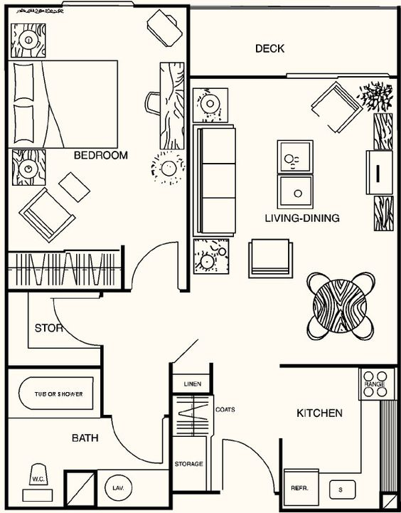 1 Bedroom House Plans | Floor Plans Madison House | Small homes ...
