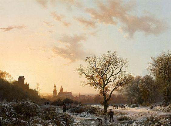 Barend Cornelis Koekkoek, Winterlandschap Gezicht op Kleef, 1839, olieverf op doek, 38 x 54 cm, collectie Groninger Museum. (De afbeelding is ter beschikking gesteld door het Groninger Museum)