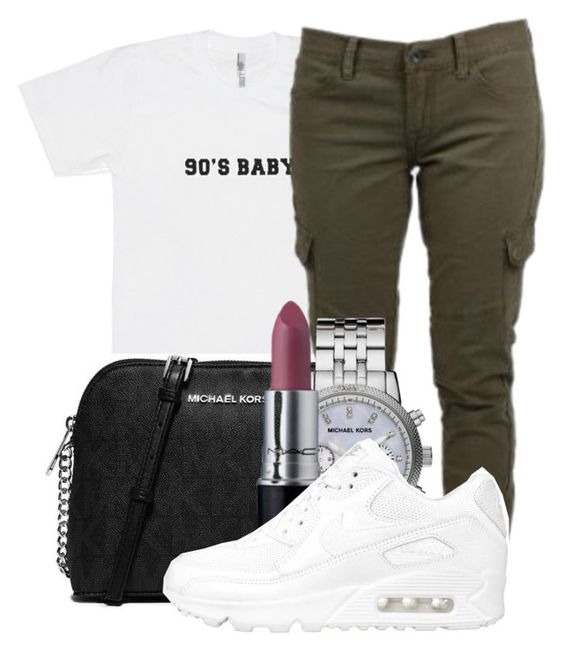 """Untitled #415"" by kenziesg ❤ liked on Polyvore featuring MICHAEL Michael Kors, Lucky Brand, Michael Kors, M.A.C and NIKE"