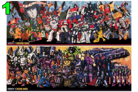 Transformers G1 Autobots and Decepticons