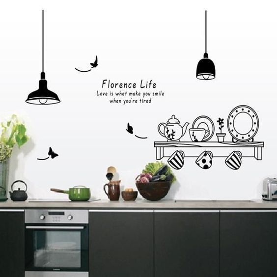 60 Beautiful Wall Decals Page 5 Of 63 Soopush Kitchen Wall Decals Kitchen Wall Stickers Sticker Decor