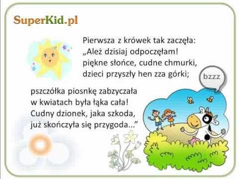 Wiersz Dla Dzieci Dwie Krówki Youtube Dzieci Wiersze