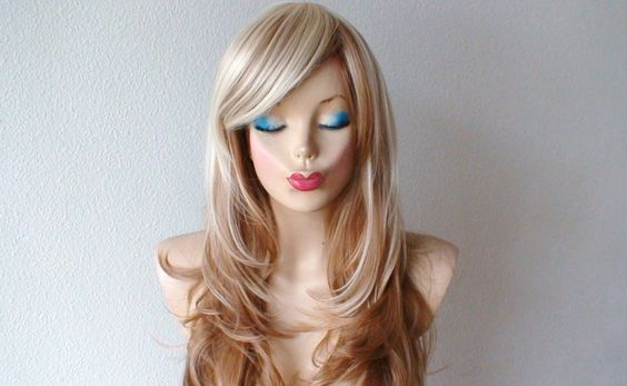 Items similar to Platinum Blonde / Light Brown Ombre hair wig ...