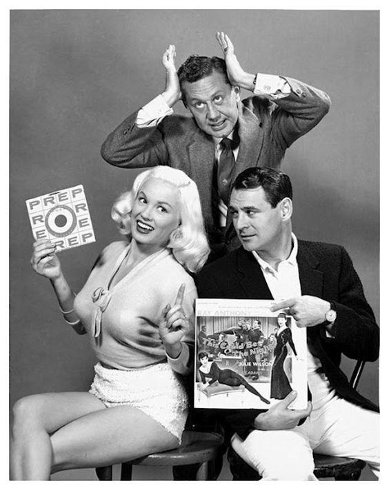 Mamie Van Doren and husband Ray Anthony.