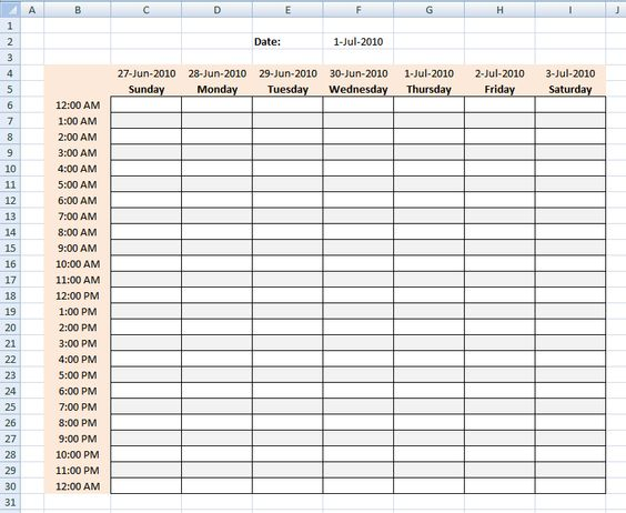 work schedule samples weekly schedules templates - weekly - work schedule