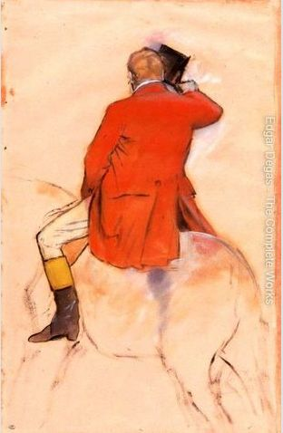 Rider in a Red Coat, Degas