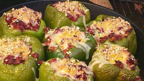 Ground Beef And Smoked Sausage Stuffed Peppers Recipe In 2020 Stuffed Peppers Peppers Recipes Recipes
