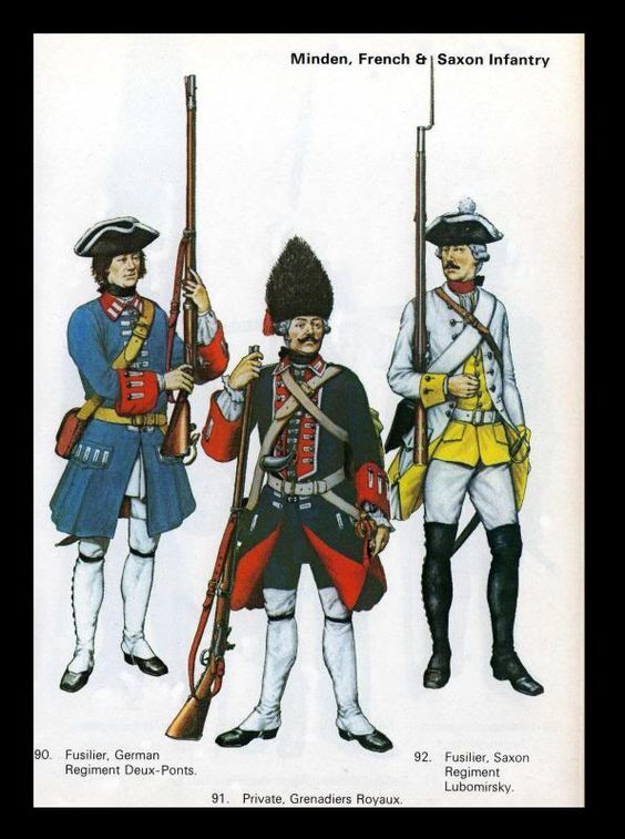French and Saxon Infantry Minden