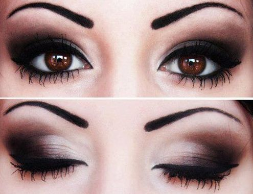 Smokey eyes con occhi marroni