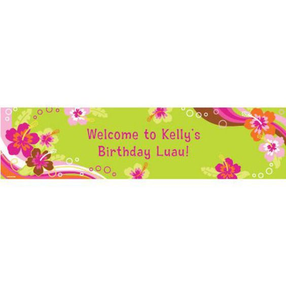 Check out Aloha Luau Personalized Banner (each) - Reduced Summer & Luau…