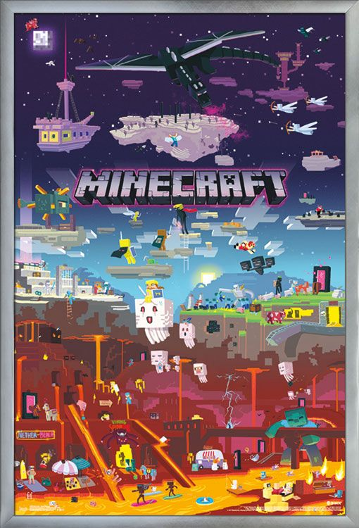 Minecraft World Beyond Walmart Com In 2020 Minecraft Posters Minecraft Wallpaper Minecraft Drawings