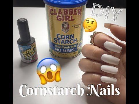 Diy Fake Nails Using Cornstarch No Acrylic Easy Nail Hack For Full Set Or Refill Nia Hope Youtube Fake Nails Diy Diy Nails Easy Diy Acrylic Nails