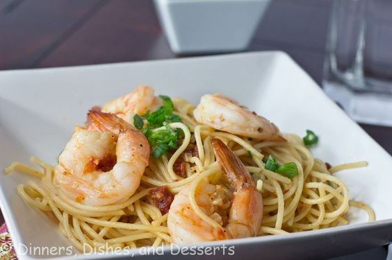 Use whole wheat pasta and you've got an easy healthy dinner! Speedy Sauteed Shrimp