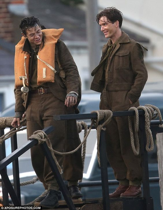 Cillian Murphy and Harry Styles film scenes for Dunkirk in ...