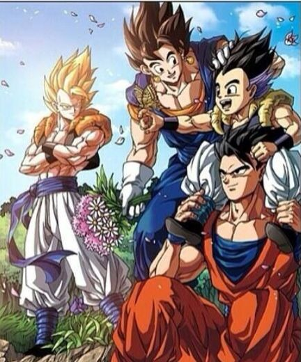 Gogeta, Vegito, Gotenks and Gohan | Dragon Ball Z ...