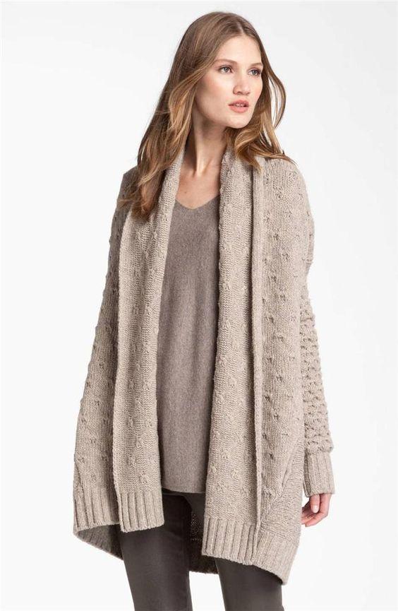 NWT $445 Vince Textured Sweater Blanket Car Coat Cardigan Oatmeal